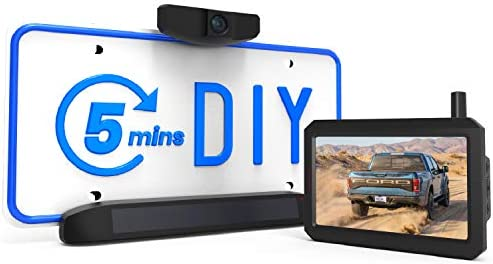 AUTO VOX Solar Wireless Backup Camera 5 Mins DIY Installation 5 Inch HD Monitor with Digital product image