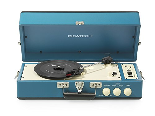 Ricatech RT98 Tocadiscos Vintage USB SD AUX azul