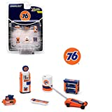 Greenlight Shop Tool Accessories Series 2-1:64 Scale 6 Piece Union 76' Auto Body Shop Tool Set