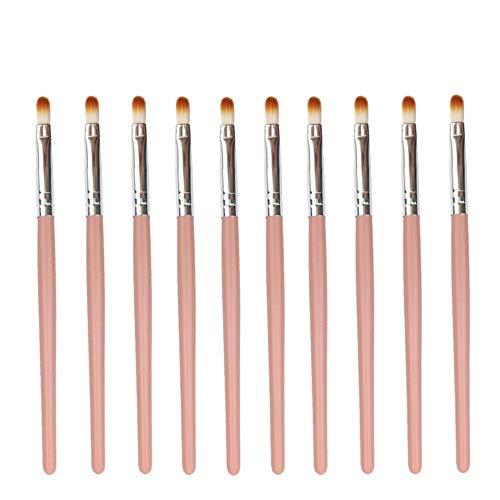 10 Pinceau de Maquillage Professionnel Eye Smudge Set Pinceau à lèvres Ombre à Paupières Faits saillants Pratique Outil - Rose Voyage (Color : Orange Silver)