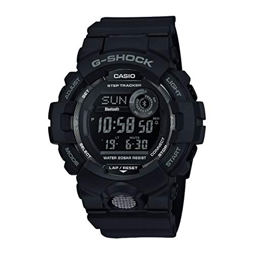 Casio G-SHOCK Orologio, Steptracker/Pedometro, Sensore di movimento, 20 BAR, Nero, Digitale, Uomo, GBD-800-1BER