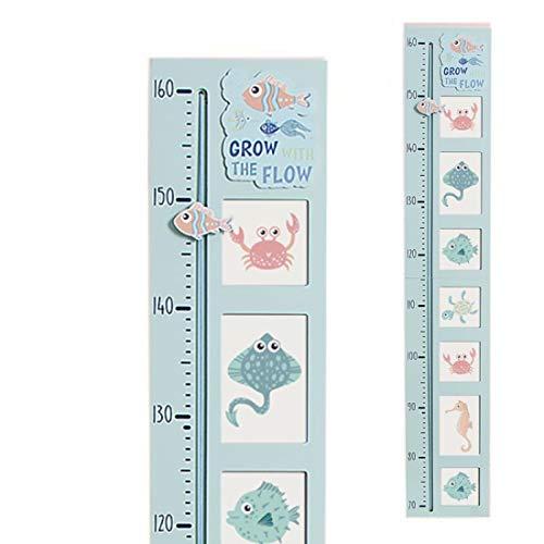 Home Gadgets Kinder-Wandmaß, 96 cm, Blau Sea