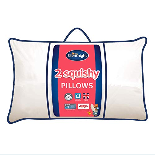 Silentnight Squishy Pillow 2 Pack Luxury Soft Comfy Snug Cosy Front Side Sleeper