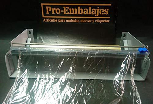 Cortadora/Dispensador para rollos de Aluminio y Film alimentario industrial. Para rollos de 45 cm x 300 mts