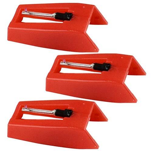 Lseqow Plattenspieler Nadeln, universal für meiste Plattenspieler Phonograph, Plattenspieler-Ersatznadeln, Vinyl-Plattenspieler, 3-teilige