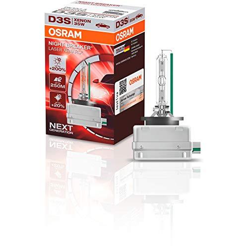 OSRAM XENARC NIGHT BREAKER LASER D3S, +200 % mehr Helligkeit, HID Xenon-Scheinwerferlampe, 66340XNL, Faltschachtel (1 Lampe)