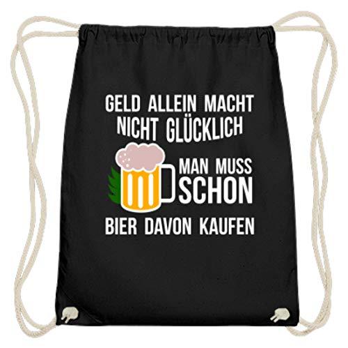 Bolsa de gimnasio de algodón con diseño divertido, color Negro, talla 37cm-46cm