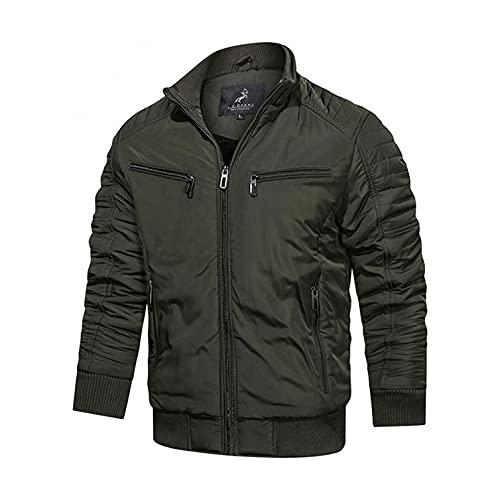 Mens Jackets Outdoor Waterproof Lightweight Windproof Autumn Winter Leisure Plus Size Zip Pocket Cotton-padded Jacket
