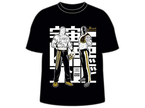 キン肉マンコラボ 金丸義信&エル・デスペラード×宇宙一凶悪コンビ Tシャツ(ブラック) (M)
