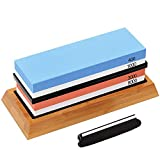 G.a HOMEFAVOR Knife Sharpening Stone Set, Premium Whetstone Sharpener Kit, 4 Side Grit