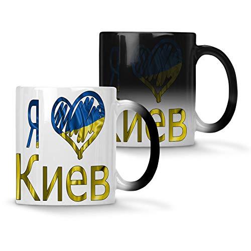 Ich liebe Kiew Ukraine Flagge Farbwechsel 33 cl Tasse u301w