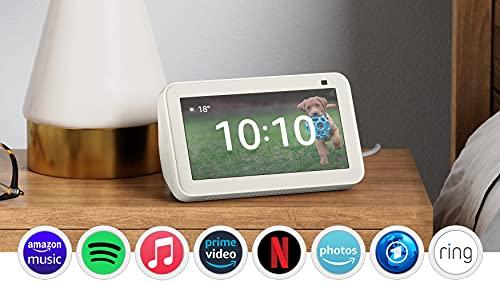 Der neue Echo Show 5 (2. Generation, 2021) | Smart Display mit Alexa und 2-MP-Kamera | Weiß