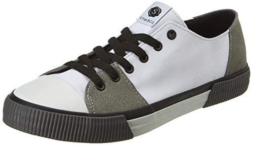 Amazon Brand - Symbol Men's White Sneakers-9 UK/India (43 EU) (AZ-GI-362C)