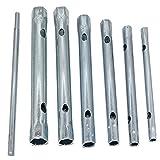 IENPAJNEPQN 6 mm - 17 mm Tubular Llave de Tubo Set Plug Tubo Hueco Llave de Tubo Llave de Filtro (Color : Silver)
