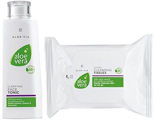 Preisvergleich Produktbild LR ALOE VIA Aloe Vera Gesichtspflege-Set (200 ml Gesichtswasser & 25 Stk Reinigungstücher)