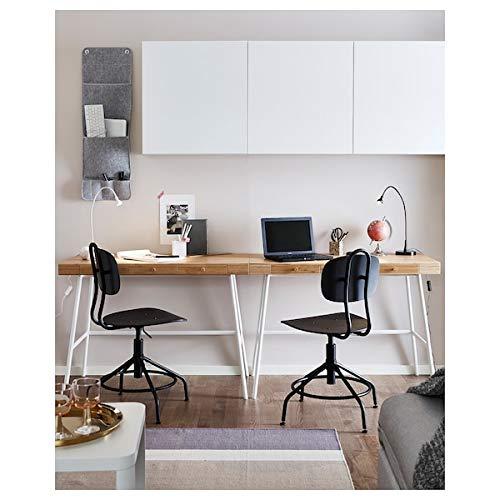 DiscountSeller PÅHL - Escritorio de bambú (102x49 cm, resistente y fácil de cuidar, para el hogar, escritorios de ordenador, mesas y escritorios, muebles respetuosos con el medio ambiente