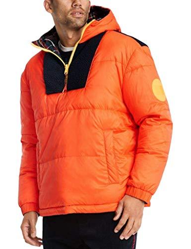 Men's Vest Reversible Winter Thick Warm Sleeveless Jacket Puffer Down Packable Waistcoat Hooded Zipper Coat