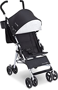 Jeep North Star Stroller – Lightweight Stroller Features Parent Organizer Cup Holder and Cool-Climate Mesh Seat Black with Grey