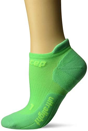 CEP Calcetines de compresión para Mujer Ultralight No Show Calcetines para Rendimiento, Unisex, Calcetines ultraligeros Que no se presentan, WP46C-, Viper/Verde, M