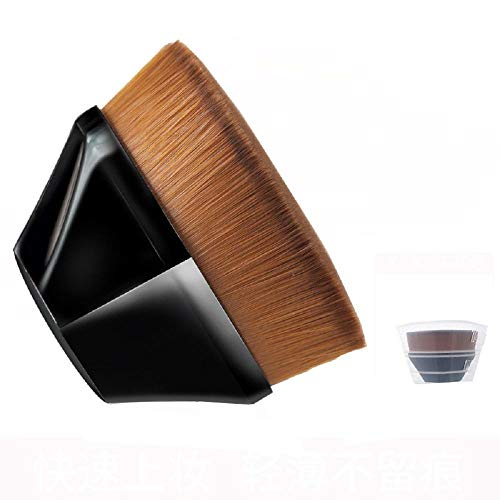 Pinceau de maquillage professionnel n°55 simple épais doux doux poudre fard à paupières fond de teint fard à paupières mettre en évidence pinceau outil anti-cernes - noir