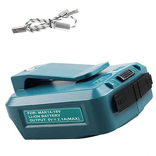 Adaptador de carga dual USB de la fuente de alimentación de ADP05 14V -18V con cable USB 3 en 1 compatible con Makita Durable