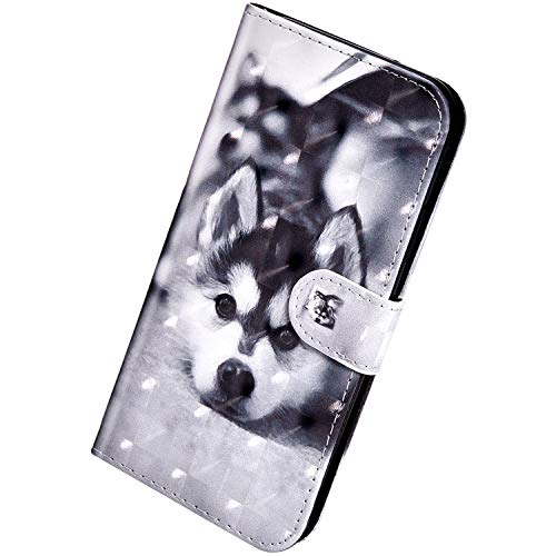 Herbests Kompatibel mit Xiaomi Redmi Note 5A Hülle Klapphülle Leder Tasche Flip Schutzhülle Wallet Handyhülle 3D Bunt Muster Glänzend Bling Glitzer Brieftasche Handytasche Hülle,schwarz H&