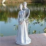 LOSAYM Statuen Skulptur Ornamente Romantische Porzellan Hochzeitsliebhaber Statue Keramik Ehepaar Skulptur Handwerk Ornament Hochzeitsdekor