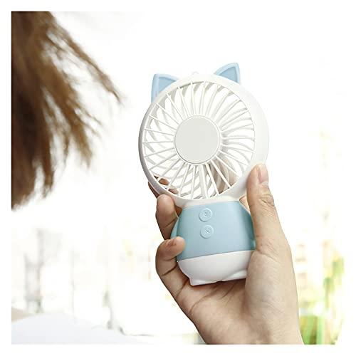 ZHUANQIAN Ventilador Portátil, Mini Lámpara Luz Noche con Acondicionador RecargeAB Ventilador Escritorio Protección (Color : Sky Blue)