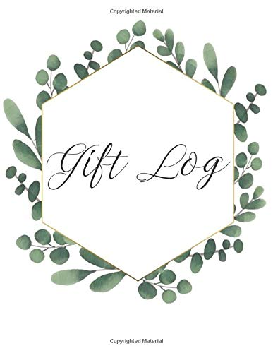 Gift Log: Gift Record Keeper Gift Tracker Notebook, Gift Registry, Recorder, Organizer, Keepsake for Bridal Shower, Wedding Party