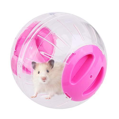 12 cm Hamster Gymnastikball Kunststoff Kleintiere Running Ball Hamster Gerbil Maus Ratte Übung Spielzeug Pet Jogging Spielen Spielzeug(Pink)