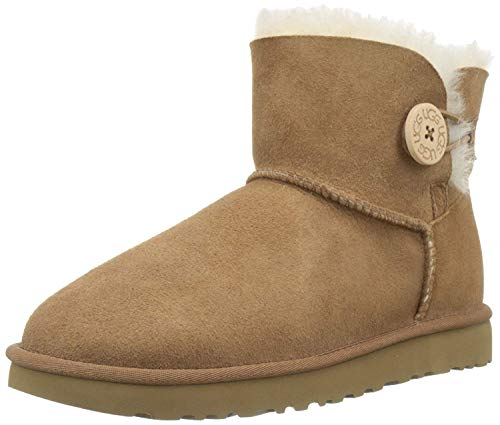 UGG Female Mini Bailey Button II Classic Boot, Chestnut, 4 (UK)
