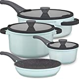 Lightning Deal Pots and Pans Set, Multilayer Granite Non-Stick Coating...