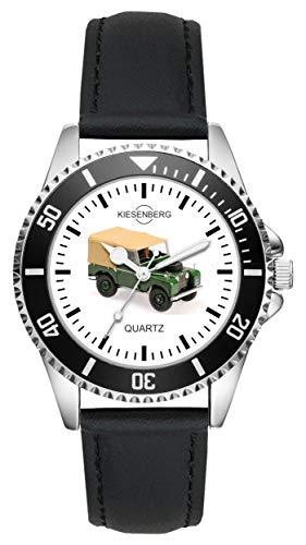 Geschenk für Land Rover Grün Oldtimer Fans Fahrer Kiesenberg Uhr L-1910