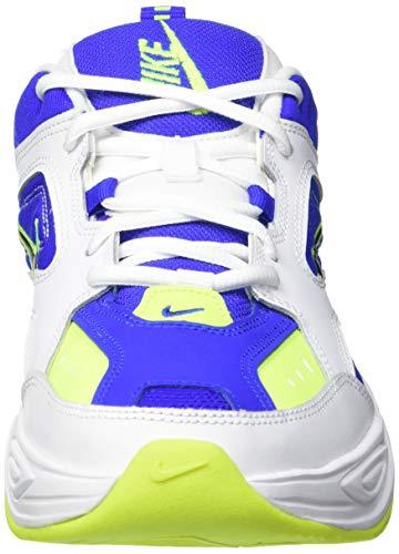 Nike M2K Tekno, Zapatillas de Trail Running Hombre, Multicolor (White/Black/Volt/Racer Blue 105), 43 EU