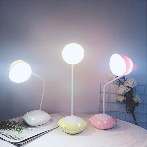 Lámpara de mesa de lectura LED control remoto lámpara de escritorio de iluminación de tres colores dormitorio para estudiantes carga USB protección ocular luz nocturna + blanco