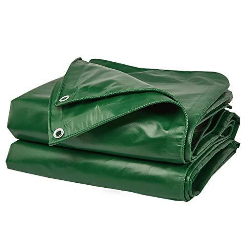 Enjoy4Life - Lona impermeable resistente – Hoja de lona verde universal – Cubierta de calidad premium 460 g/㎡ (tamaño: 3 x 5 m)