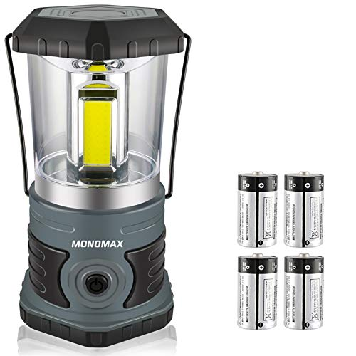 LED Camping Lantern Battery Powered 1500 Lumen COB Camping Light 4D Batteries(Included) Perfect for Camp Hiking Emergency Kit