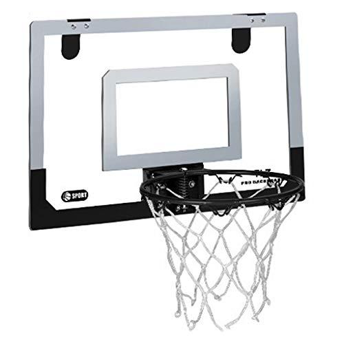 ZDNB Juego de Baloncesto, Soporte de Baloncesto portátil para Tablero de Baloncesto montado en la Pared, Tablero estándar para Interiores y Exteriores, Negro, 45 cm × 30 cm