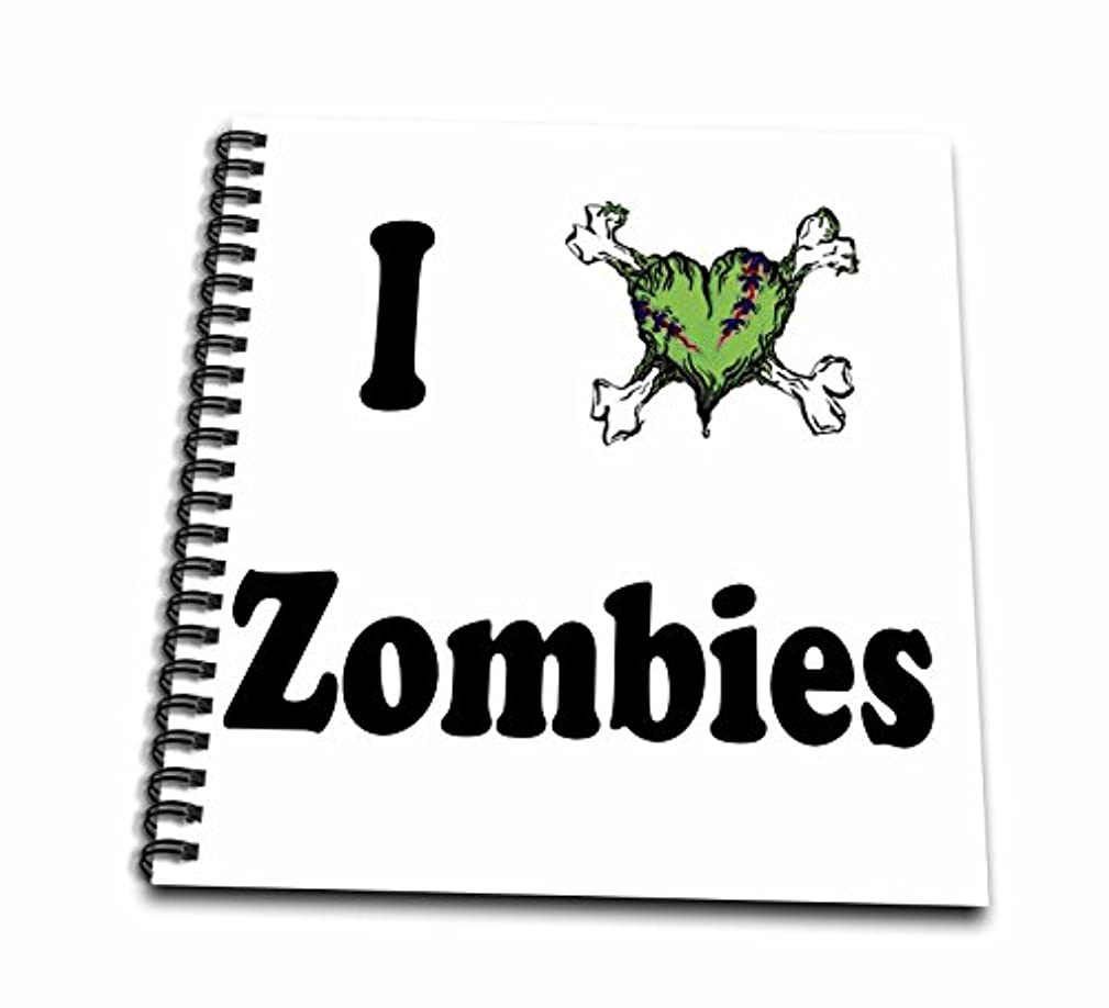 3dRose EvaDane - Funny Quotes - I love zombies - Memory Book 12 x 12 inch (db_157432_2)