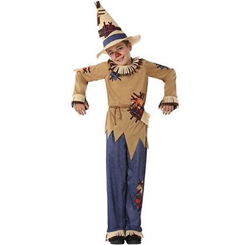 Atosa Disfraz de Espantapájaros para niño 5 a 6 años