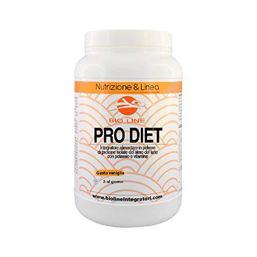 PRODIET - Integratore alimentare di proteine isolate del siero del latte e calcio caseinato con potassio e vitamine, 500 g (Gusto Vaniglia, 500 grammi)