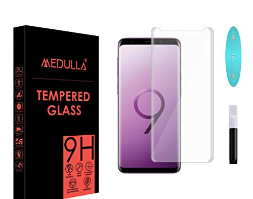 Medulla UV Tempered Glass Screen Protector for Samsung Note 8/Note 9 Border Less Full Coverage Edge to Edge with Installation Kit
