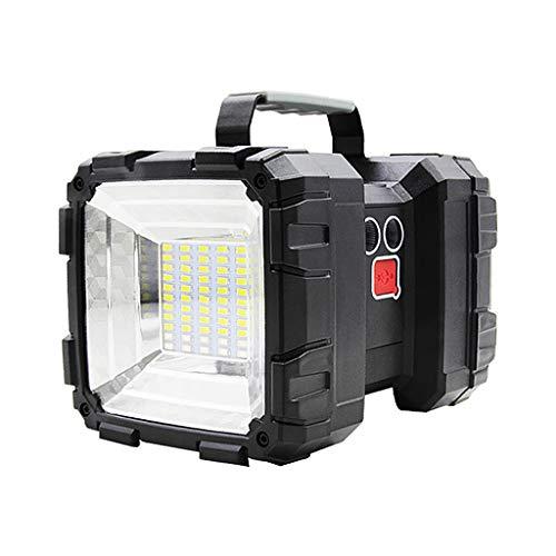 SunniMix Foco Recargable USB, Linterna LED de Alto Brillo Superbrillante, Foco de Linterna Resistente, Reflector Y Linterna para Acampar con Inundación Negro - W845