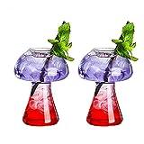Copa de cóctel creativa, conjunto de vidrio de cóctel de diseño de setas de 2, taza de bebidas novedad para la fiesta noche barra KTV Vidrio personalizado que son regalos para sus amigos,Blanco