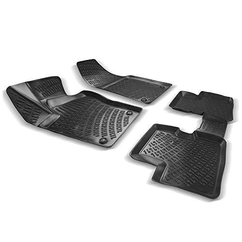 OMAC Allwetter Auto Fußmatten Automatten Kompatibel mit FIAT Aegea/Tipo 2015-2021 Stufenheck 3D Passform Hoher Rand Gummimatten Allwettermatten Schwarz 4 teilig