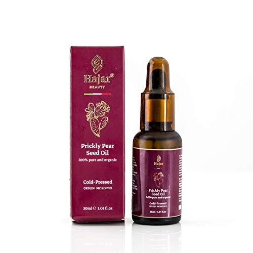 OFERTA DE LANZAMIENTO Aceite de semilla de higo chumbo de Hajar Beauty Italy prensado en frío orgánico 100% puro adecuado para rostro, piel, cabello, certificado anti-envejecimiento anti-edad