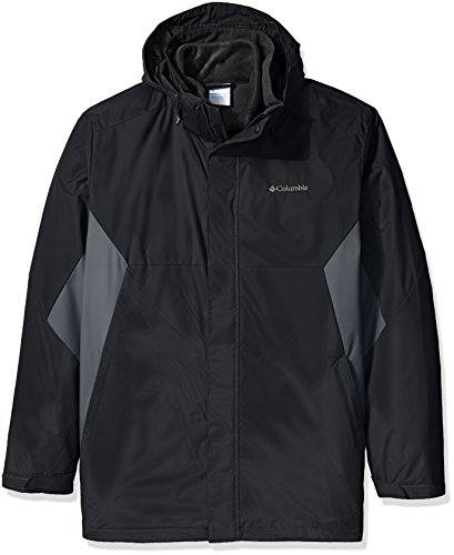 Columbia Men's Big & Tall Eager Air Interchange 3-in-1 Jacket, black, Graphite, 3X Tall