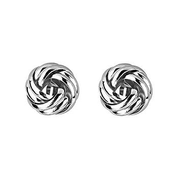 Jones New York Silver Twisted Locket Style Clip-on Earrings