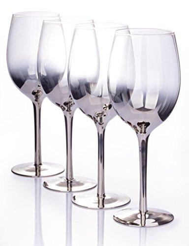 Set di 4bicchieri da vino Platinum Ombre