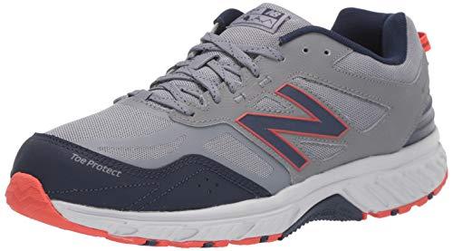 New Balance Men's 510 V4 Trail Running Shoe, Gunmetal/Navy, 10 M US
